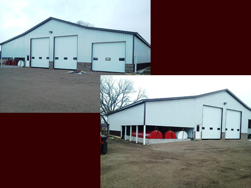 Picture 2 of 9, a pole barn red barn built by Overweg Construction
