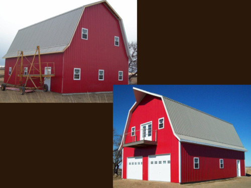 Picture 4 of 9, a picture of the red barn built by Overweg Construction