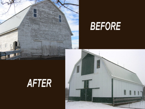 Picture 7 of 9, another barn restoration by Overweg Construction.