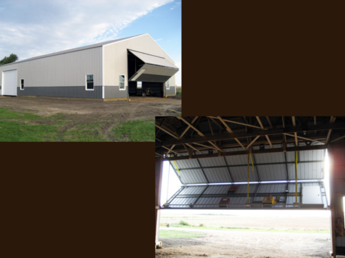 Picture 8 of 9, a new machine shed built by Overweg Construction.